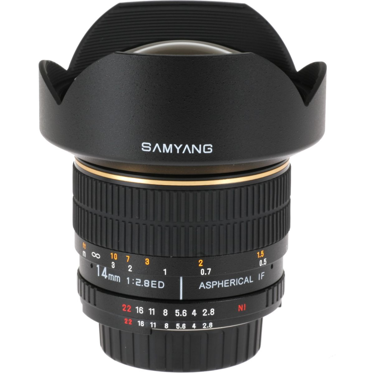 Objectif SAMYANG 14 mm F2,8 CANON (pour reflex CANON)
