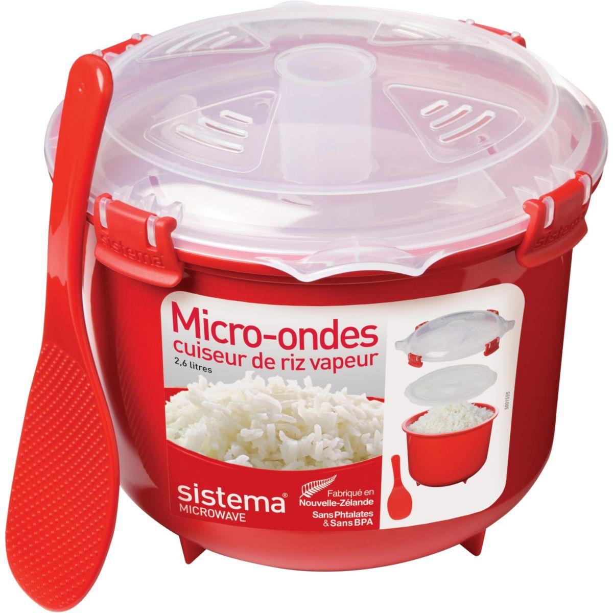 Cuiseur riz SISTEMA vapeur micro-ondes à clips 2.6 L (photo)