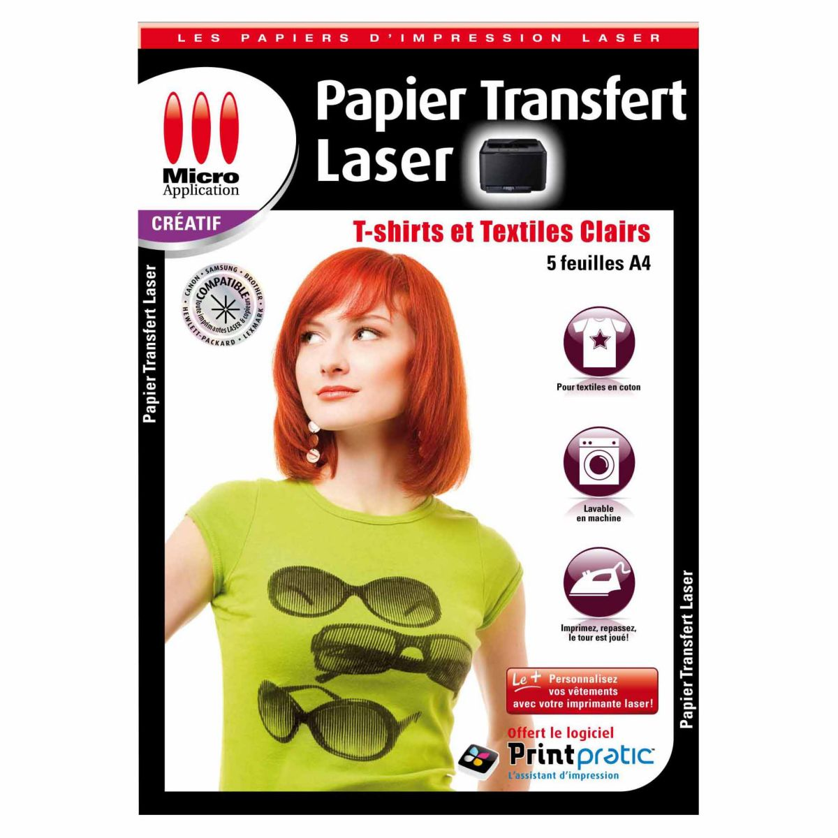 Papier créatif MICRO APPLICATION Transfert textile Laser (photo)