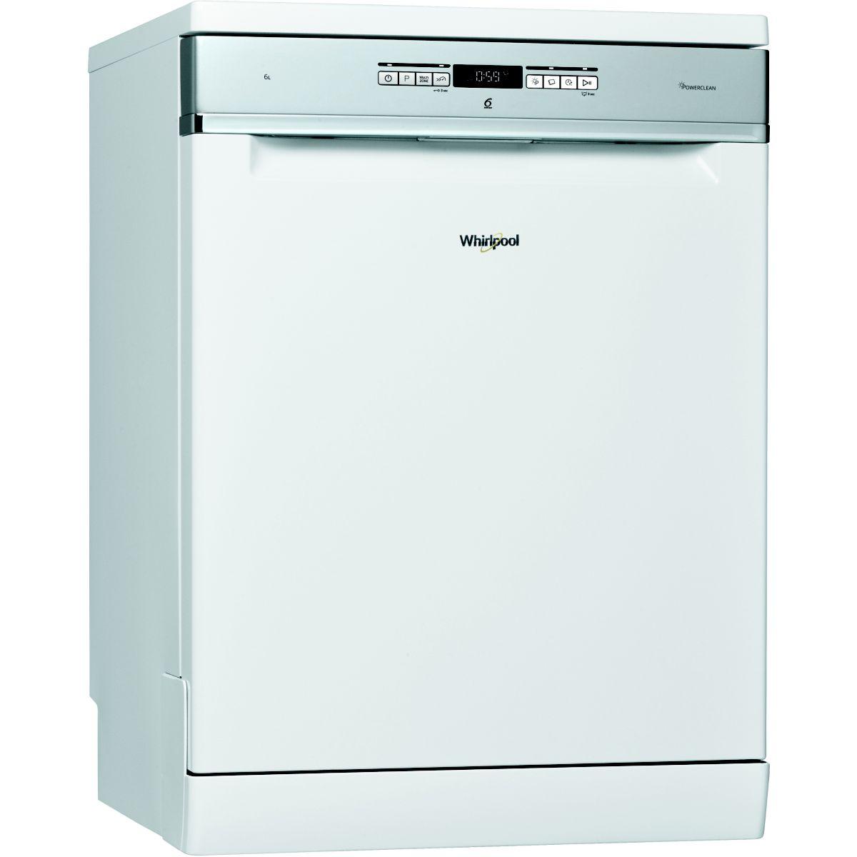 Lave vaisselle silencieux 60cm whirlpool wfo3t3236p